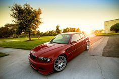 Imola Red BMW E46 M3 on BBS CH. L<3ve! My all time fave color/model combo