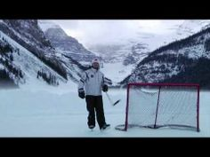 Play pond hockey on Lake Louise in Banff. Before I Die, Banff, Triathlon, Pond, Mount Everest, Hockey, February, Events, Mountains