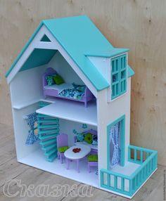 Кукольный дом ручной работы. Ярмарка Мастеров - ручная работа. Купить Кукольный домик. Handmade. Кукольный дом, барби, фанера