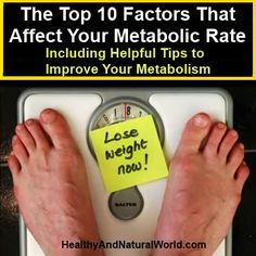 The Top 10 Factors That Affect Your Metabolic Rate