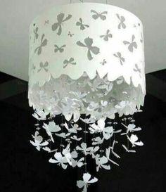 pendelleuchten papierleuchten weiß mit schmetterlingen
