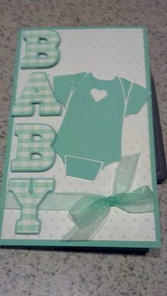 Cute Cricut baby card.