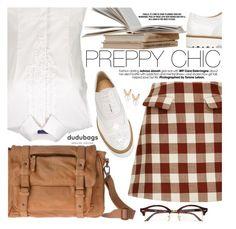 Preppy Chic by pokadoll on Polyvore featuring moda, Marni, Hogan, Aamaya by priyanka, Ray-Ban and dudubags