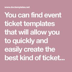 how to create tickets for an event in word