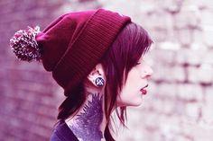 girl beautiful gorgeous plugs inked tattoo ink gauges marry me Gosh