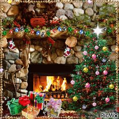 Merry Christmas Photo Frame, Christmas Tree Gif, Christmas Scenery, Whimsical Christmas, Merry Christmas To All, Christmas Mood, Christmas Decorations, Xmas, Animated Christmas Pictures