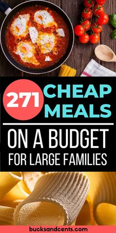 Cheap Meal Recipes Fit for Royalty A collection of over 270 cheap meal ideas including American, Italian, and Tex-Mex dishes. If you are looking for cheap meal plans, look no further! Frugal Meals, Budget Meals, Easy Meals, Budget Recipes, Healthy Meals, Healthy Recipes, Cooking For A Crowd, Cooking On A Budget, Cheap Meal Plans