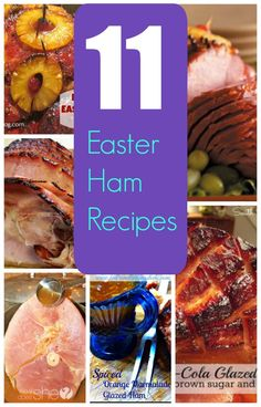 Easter Ham Recipe Round Up - delicious mouth watering ham glazes and ham recipes!
