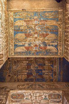 Ceiling Detail, Mortuary Temple of Ramses III, Medinet Habu, Egypt