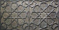 Arabic / Islamic geometry 01. geometry and pattern. image: A silver door panel