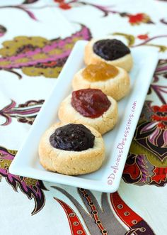 Jam-Filled Thumbprint Cookies (gluten, dairy, nut, egg free, autoimmune paleo) // deliciousobsessions.com