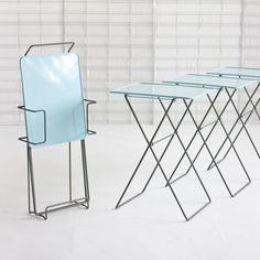 (37) Fab.com | Handi Table Set & Carrier Blue