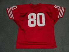 Men's Vintage Red, White SAN FRANCISCO 49ers #80 WILSON NFL Jersey, Size XL, GUC #WILSON #SanFrancisco49ers