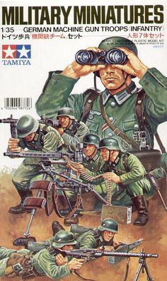 Buy Tamiya German Machine Gun Troops Model Kit at Mighty Ape NZ. About the German Machine Gun Troops: At about the middle of the the German Army organized offensive infantry corps which had machine guns and. German Soldiers Ww2, German Army, Toy Soldiers, Tamiya Model Kits, Tamiya Models, Mg 34, Military Art, Military History, Planes
