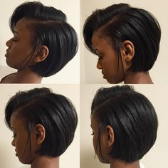 Side Part Bob Lace Front Wigs Beautiful Human Hair Cheap For Black Women Brazilian Human Hair Short Bob Hairstyles, Wig Hairstyles, Black Hairstyles, Trendy Hairstyles, Pressed Natural Hair, Curly Hair Styles, Natural Hair Styles, Natural Hair Bob Cut, Pelo Natural