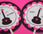 PRINTABLE Toppers - Rock Star Party - BellaGrey Designs