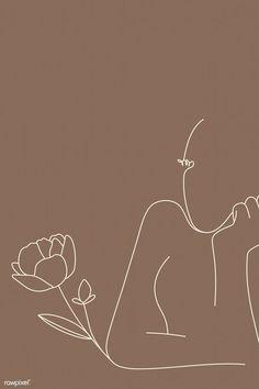 Feminine line art vector Beige Wallpaper, Iphone Background Wallpaper, Aesthetic Iphone Wallpaper, Aesthetic Wallpapers, Minimalist Wallpaper, Minimalist Art, Brown Aesthetic, Aesthetic Art, Simple Aesthetic