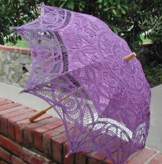 Lace-Parasols: Florence Red Hatter Parasol