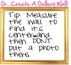 Even more gallery wall tips - in particular, I like the idea of including small…