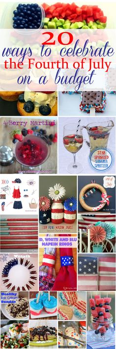 20 ways to celebrate the Fourth of July on a budget. These are awesome ideas to help you put together a fun July 4th get together.