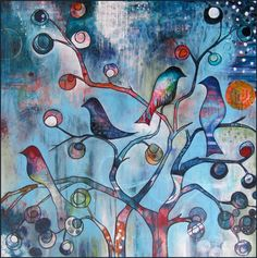 I Will Follow - painting, Nathalie Vachon