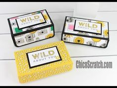 Diagonal Opening Gift Box - Video Tutorial with Stampin' Up Products. - YouTube