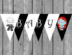 Baby Shower Banner   The Nightmare Before Christmas   Baby Shower Game    Instant Download   Print At Home   DIY   A0001