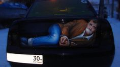 Jeremy Clarkson, or rather a painting of him on the back of a car.