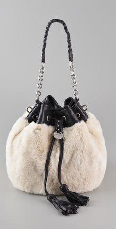 Juicy Couture The Ziegfield Vivian Bag (faux) Fur Purse, Fur Bag, Tote Handbags, Purses And Handbags, Fur Accessories, Stylish Handbags, Wholesale Handbags, Purse Styles, Cute Purses