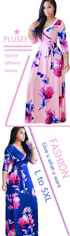 c5424c61d10 Plusee presents Plus Size Floral Print Dresses specially designed for all  the