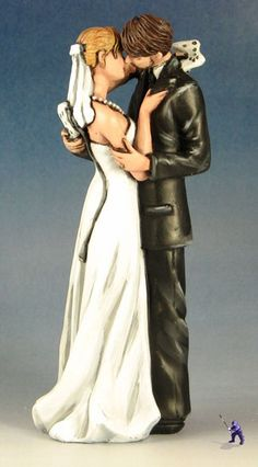 The Best wedding cake topper of all time!!!! Its the best custom made topper I have seen in a long time very classy and elegant with a twist of personality.