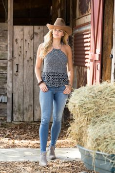 Free Pattern- Ravelry: Cheyenne Tank pattern by Premier Yarns Design Team Crochet Summer Tops, Crochet Halter Tops, Crochet Shirt, Crochet Vests, Crochet Stitches Patterns, Crochet Designs, Stitch Patterns, Textiles, Crochet Woman