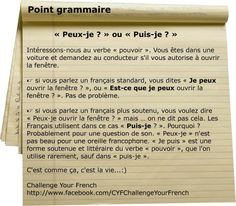 Puis je...? Peux je...? Teaching French, France 1, Learn French, Communication, French Stuff, Language, Student, Learning, French Tips