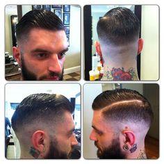 #savillsbarbers #baldfade #cutthroatfade #fade  #barberfam #barberlife @officiallayrite #pomade #layrite #sidepart #razorpart #menshair