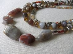 Brown Chalcedony Red Agate Botswana Agate by centerofbalance, $75.00