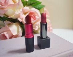 mac viva glam I and burberry lip velvet matte lipsticks