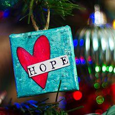 Heather Greenwood Designs: HOPE - Mixed Media Christmas