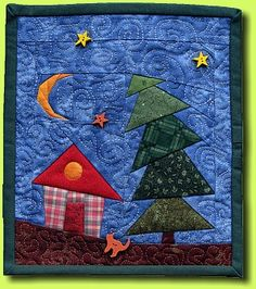 House in the Woods (Quilt)