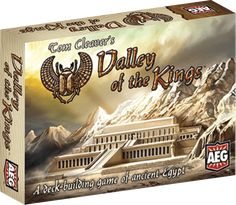 Valley of the Kings – Alderac Entertainment Group Demo by Game Creator Tom Cleaver  In Valley of the Kings, 2-4 players are Egyptian nobles, preparing for their death and burial in the Valley of the Kings. In the Egyptian religion, when you die you can take it with you! You compete to accumulate the best artifacts for your tomb. At the end of the game, you score the artifacts stored there – the player with the most victory points wins!