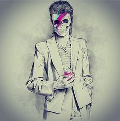 David Bowie skull - Skullspiration.comSkullspiration.com – skull designs, art, fashion and more