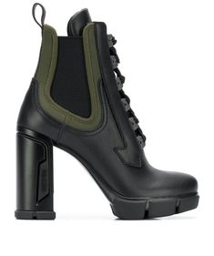 Get the must-have boots of this season! These Prada Logo Lace Up Leather Ankle Boots/Booties Size EU 35 (Approx. US Regular (M, B) are a top 10 member favorite on Tradesy. Save on yours before they're sold out! Lace Up Ankle Boots, Leather Ankle Boots, Heeled Boots, Bootie Boots, Shoe Boots, Combat Boots, Dr Shoes, Prada Shoes, Me Too Shoes