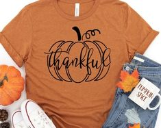 Etsy :: Your place to buy and sell all things handmade Thanksgiving Shirts For Women, Crew Neck Shirt, T Shirt, Thankful And Blessed, Fall Shirts, Shopping Websites, Soft Fabrics, Unisex, My Style