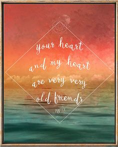 Hafiz Quote Hafiz poemYour Heart And My Heart        #art_print #quote #love