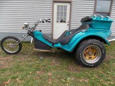 VW Volkswagen Trike Chopper Custom Homemade Motorcycle Original Paint Springer