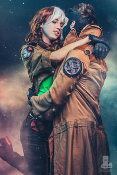 Rogue and Gambit, X-men, by Megan Coffey and Handsome Jordan Cosplay, photo by David Love.