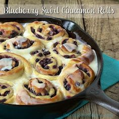 The Café Sucré Farine: Blueberry Swirl Cinnamon Rolls