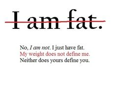 my weight does not define me