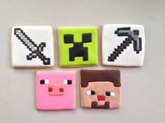 Minecraft Cookies by TheEnchantedBaker on Etsy