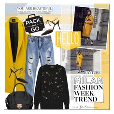 """Pack and Go: Milan with Kayture"" by mada-malureanu ❤ liked on Polyvore featuring Manolo Blahnik, Markus Lupfer, women's clothing, women, female, woman, misses, juniors, kayture and Packandgo"