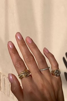 The Unexpected (But Chic) Holiday Nail Polish Shade You're About To Fall In Love With Sparkly Jewelry, Simple Jewelry, Crystal Jewelry, Gold Jewelry, Beaded Jewelry, Jewelery, Jewelry Necklaces, Dainty Gold Rings, Bold Rings
